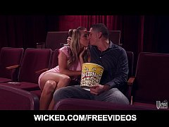 HOT blonde Samantha Saint meets her old BF at t...