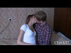 Teen playgirl pleases her man