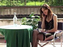 Skinny slut banged and filmed with an unknown f...