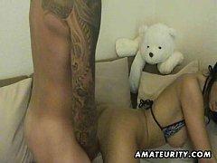 Naughty amateur teen anal fuck with facial cumshot