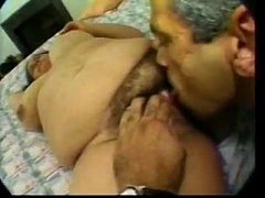 Alexis takes 2 cocks and gets a face full of cum