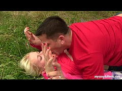 Teen Cathy gets fucked and cummed