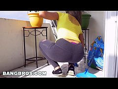 BANGBROS - Latina maid Mariah cleans more than ...