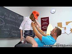 InnocentHigh Skinny cherry blonde teen Avril Hall rammed