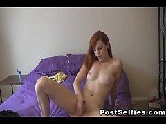Red Head Hot Babe Masturbating