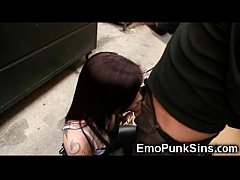 Emo teen fucked by a hobo!