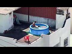 Flagrante whatsapp, comendo a novinha na piscina