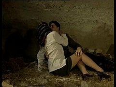 Italian porn vintage: sex in a cave with a sexy...