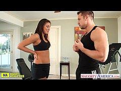 Sexy babe Rilynn Rae fuck in the gym