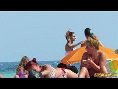 Horny Amateur Big Boobs Teens Voyeur Beach Video