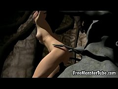 3D cartoon brunette gets fucked hard by a ...