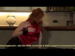 Redhead MILF Fucked By Face Strapon