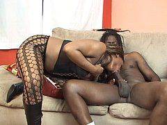 2 hotties share a big black cock
