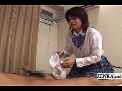 Subtitled CFNM Japanese schoolgirl femdom senzu...