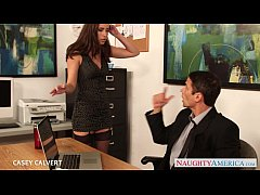 Beauty babe Casey Calvert fuck in the office