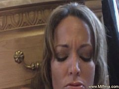 Big Squirt From Glass Dildo MILF