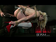 BDSM XXX Tattooed slaves are suspended and made...