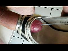 Cum in girlfriend's high heel shoe