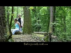 Claudie tiedup in the forest and fucked 10