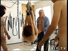 French redhead girl gangbanged and sodomized in...