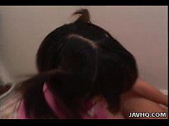 Precious Asian brunette has a fat dick she is s...