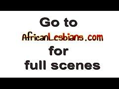 Showering made ebony lesbians horny and ready f...