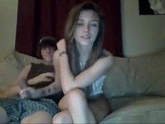 Emo teens fucking and masturbating on webcam - ...