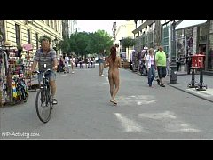 Crazy Naked Tereza Shows Her Hot Body On Public Streets