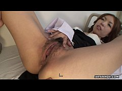 Attractive Japanese gal slurps a big thick meat...