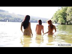 Three beautiful czech girls showing everything
