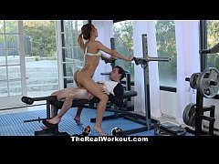 TheRealWorkout - Bubble Butt Cutie Fucked During Workout