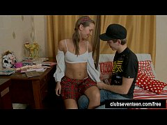 Pigtailed teen Louise gets fucked