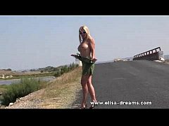 Erotic and nude in public on the road video
