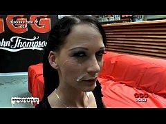 Bukkake time with sexy skinny Aymie - German Go...
