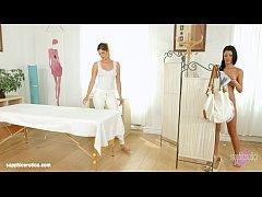 Mira Sunset and Vivien Bell in Sapphic massage ...