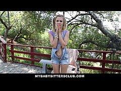 MyBabySittersClub - Petite Baby Sitter Caught M...