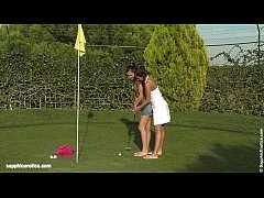 Holes In One - Lesbian action on the golf cours...