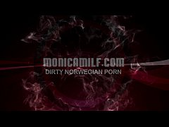 Dirty Norwegian Monicamilf compilation with squ...