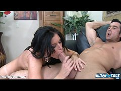 MILF India Summer riding anally a big cock