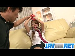 Karen Yuuki gets fucked in raw Asian bondage po...