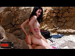 Skinny french babe fucked in ass and pussy at t...