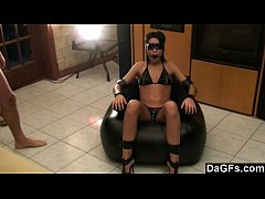 Amateur couple practice bdsm sex for the first ...
