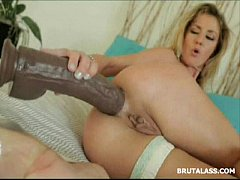 Stunning blonde stretching her tight ass with a...