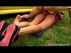 Play MP4 - Firstanalquest.com - ANAL CLOSE UP OUTDOORS SHOWS HER GAPING TEEN ASSHOLE
