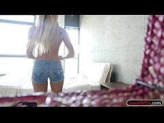 Hot blonde teen babe Avalon Heart rimmed by big...