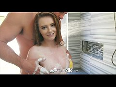 Tiny4K - Petite redhead Karlie Brooks pounded hard in shower