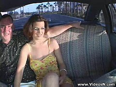 couple Fucking in the taxi cab -