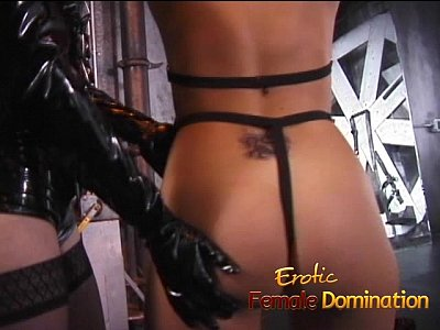 Bdsm Bondage Brunette video: Juicy slave doesnt make a sound as the mistress plays with her-6