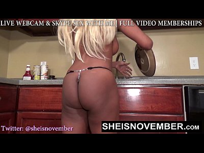 SEXY BLONDE STEP SISTER MSNOVEBER FORCED NAKED EXPOSING BIG NATURAL TITS & BUTT