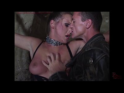 Domination Fetish Freeroughporn video: Mandy Bright chained and double penetrated in her cunt